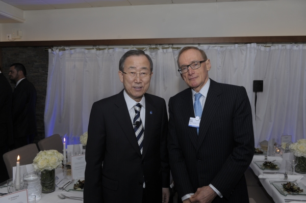 Foreign Minister Bob Carr with UN Secretary General Ban Ki-moon on January 24, 2013 (Photo: UN)