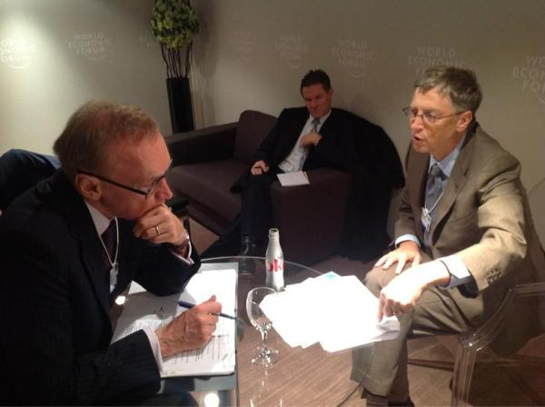 Foreign Minister Bob Carr and Mr Bill Gates discuss beating polio and malaria on January 26, 2013