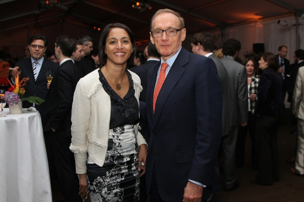 Foreign Minister Bob Carr with Ambassador Sofia Borges, Timor-Leste's Permanent Representative to the UN at Australia's Arms Trade Treaty reception on March 20, 2013 (Photo: Trevor Collens)