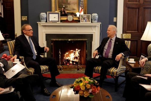 Foreign Minister Bob Carr with US Vice President Joe Biden on March 25, 2013