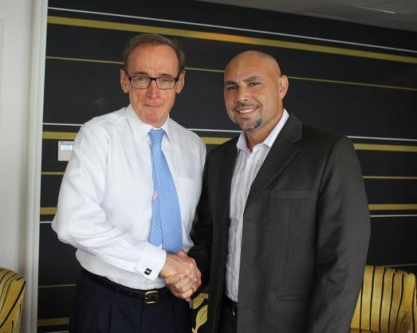 Foreign Minister Bob Carr with PNG Planning Minister Charles Abel on May 4, 2013