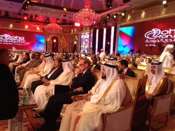 Foreign Minister Bob Carr at the Doha Forum in Qatar on May 19, 2013